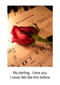 I liebe dich Sprüche - My darling, I love you