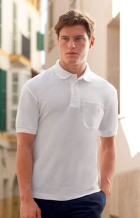 FRUIT OF THE LOOM Pocket Polo Herren