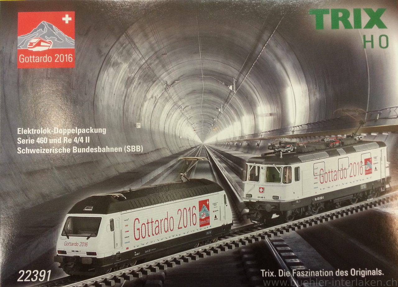"Trix 22391 - Doppelset Re420+Re460 ""Gottardo"", DC, digital mit Sound"