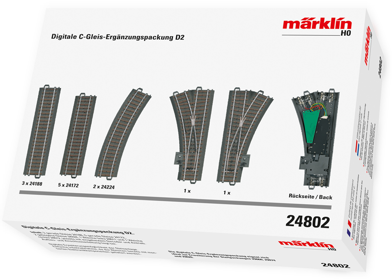 Märklin 24802 - Digitale C-Gleis Erg.pack.D2