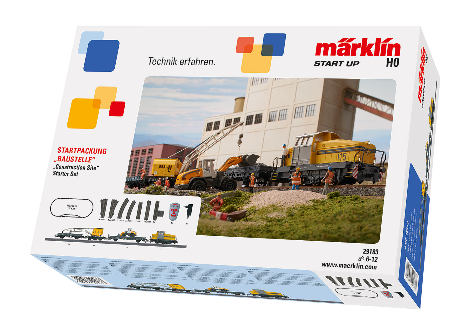 "Märklin 29183 - H0 Start up Startpackung ""Baustelle"", digital (Infrarot FB)"