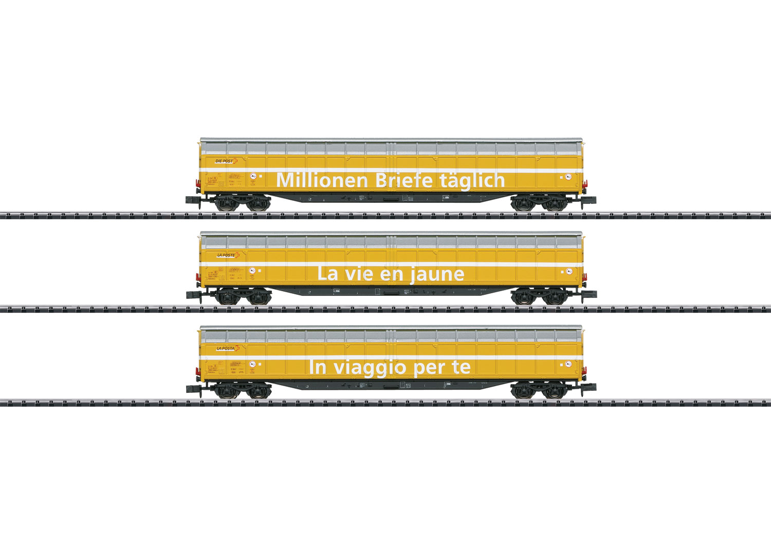 Minitrix 15799 - SBB Güterwagen-Set der Post, 3-teilig