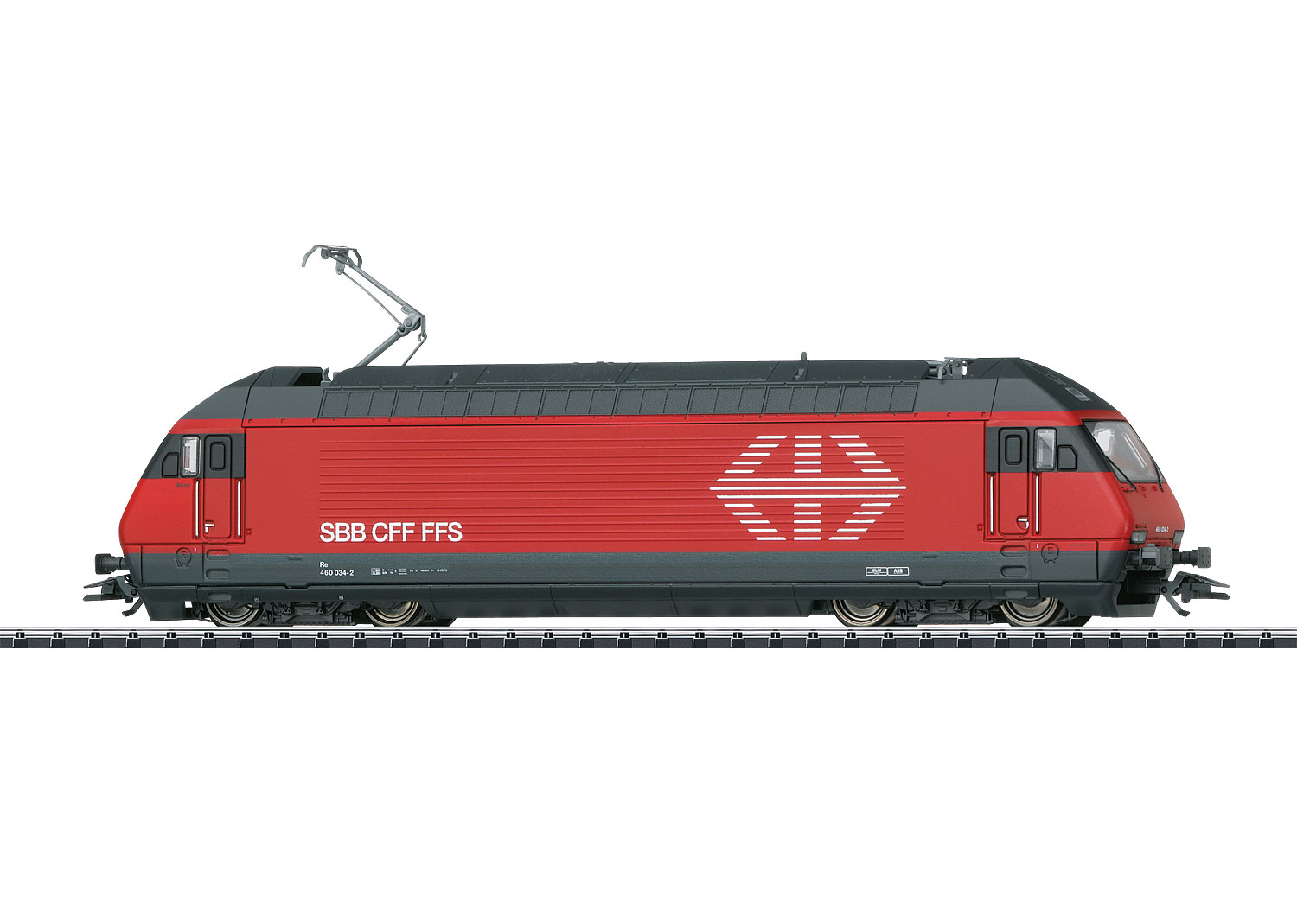 "Trix T22948 - SBB Re 460, ""Helvetia"", #084-7, Ep. VI, rot (Glanzlack), DC, digital + Sound (mfx)"