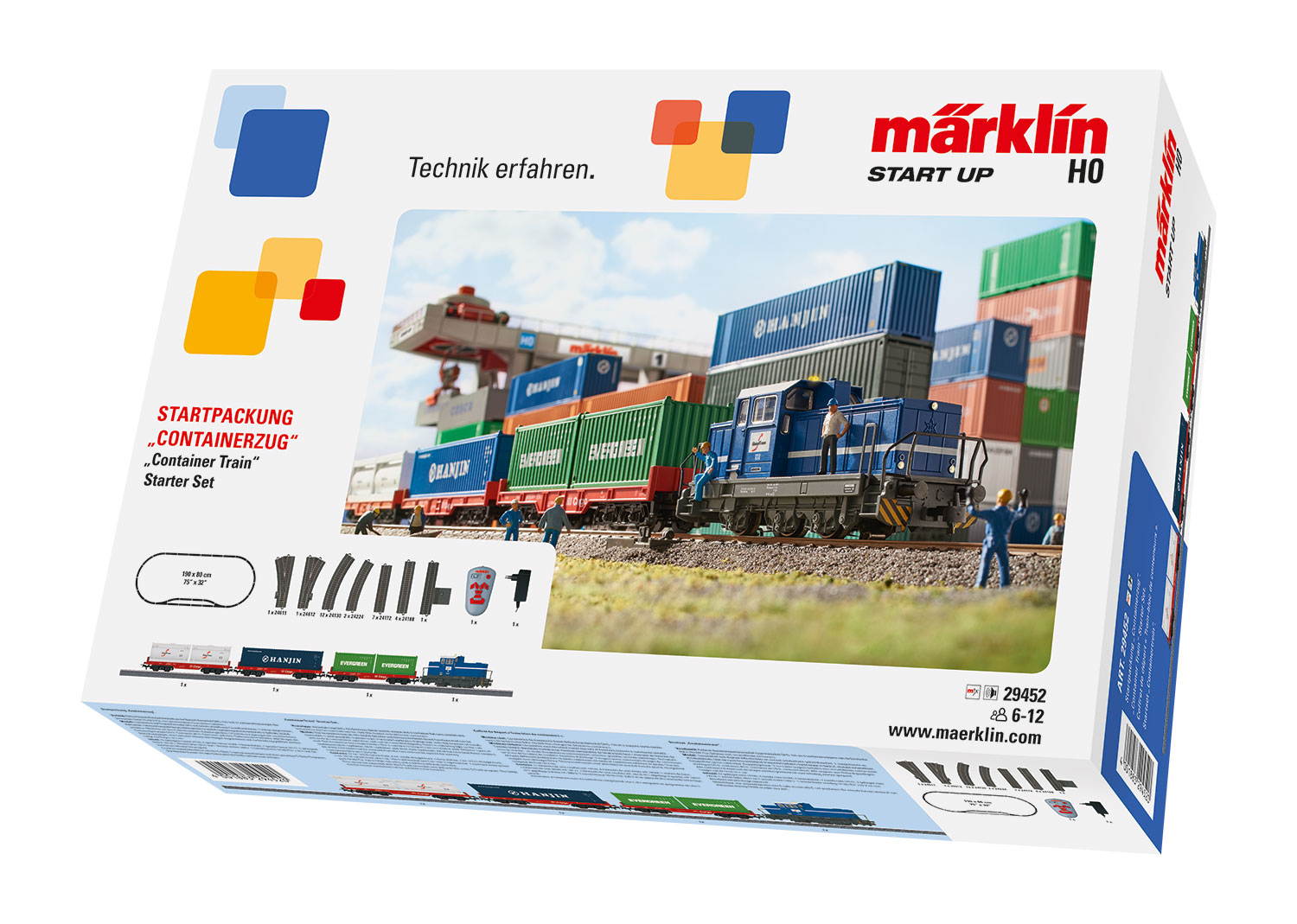 "Märklin Start Up H0, 29452, Startpackung ""Containerzug"", digital (Infrarot FB)"
