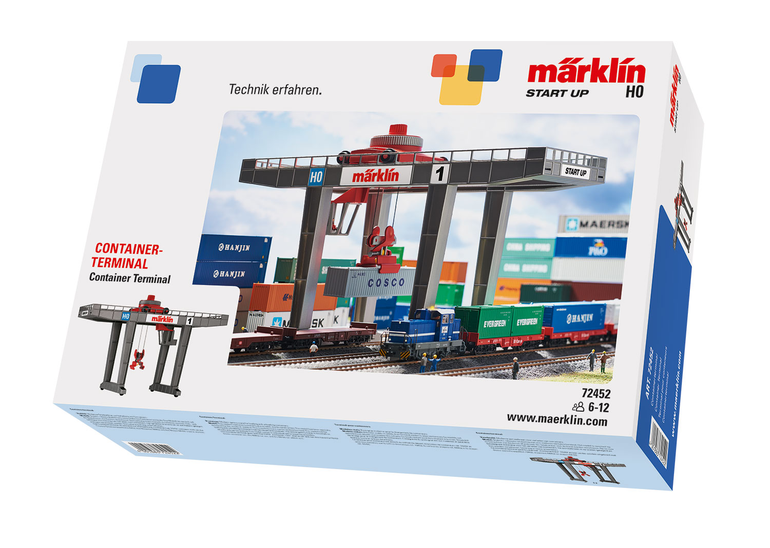 Märklin Start up H0, 72452, modernes Containerterminal (manuell)