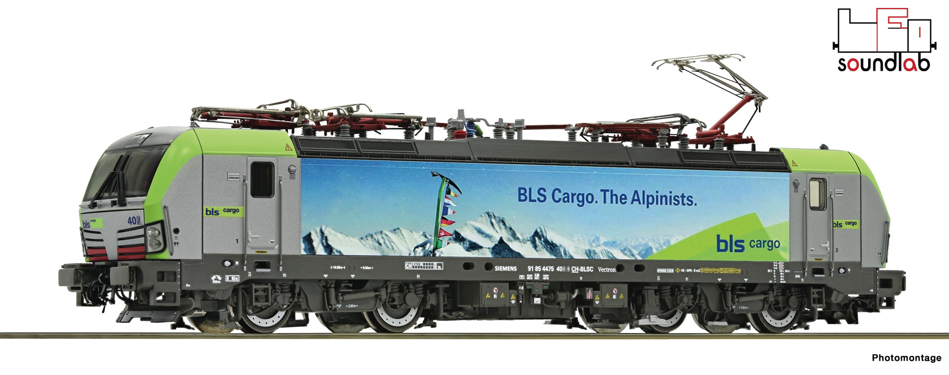 "Roco 73928 - BLS Cargo, RE 475, ""im Alpinisten-Design"", Ep. VI, DC, digital m. Snd"