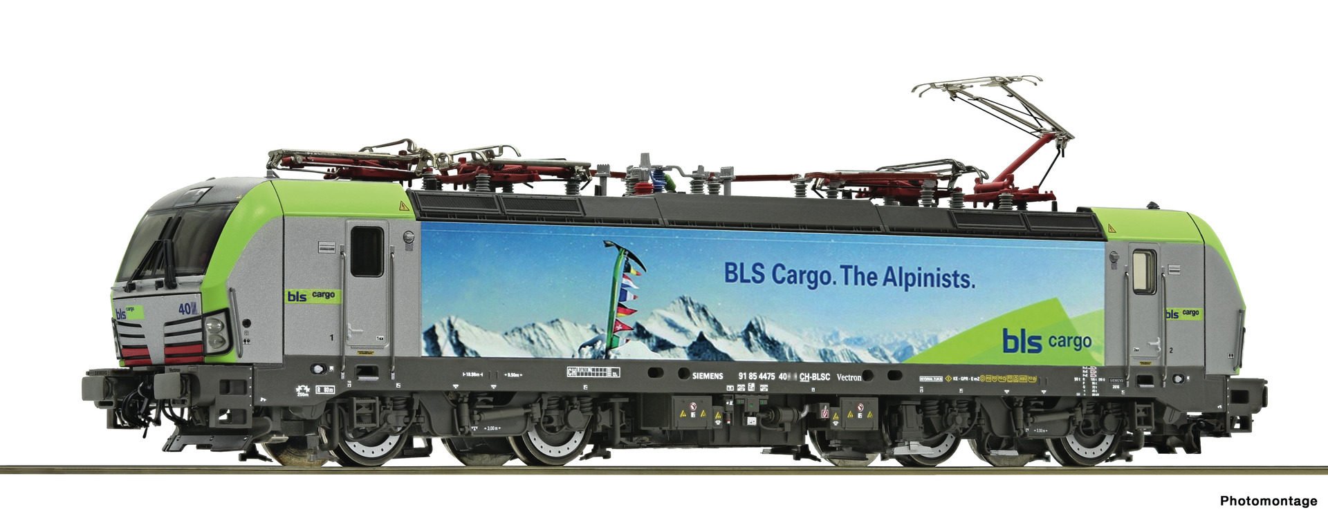 "Roco 73927 - BLS Cargo, RE 475, ""im Alpinisten-Design"", Ep. VI, DC, analog"