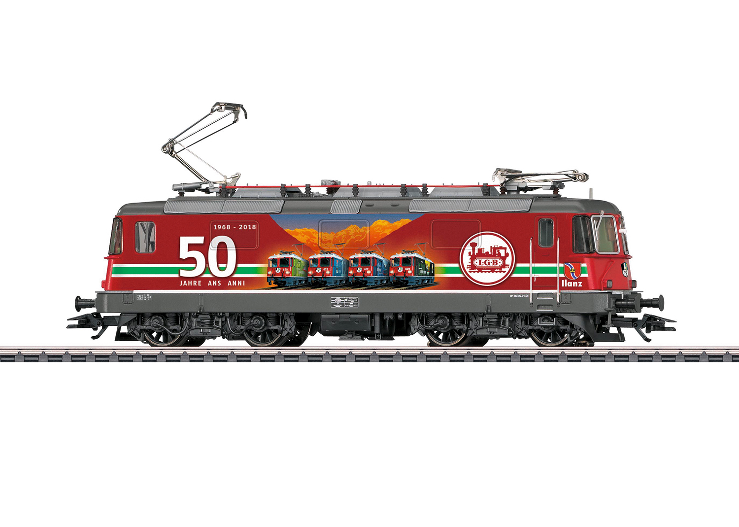 "Märklin 37351 - SBB Re 4/4 II, ""50 Jahre LGB"" (AC, digital m. Sound, mfx+)"