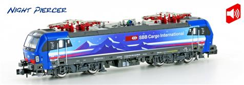 "Hobbytrain H2999S, Spur N, SBB Cargo Re 475 ""Vectron"", ""Night Piercer"", Ep. VI, digital/Sound"