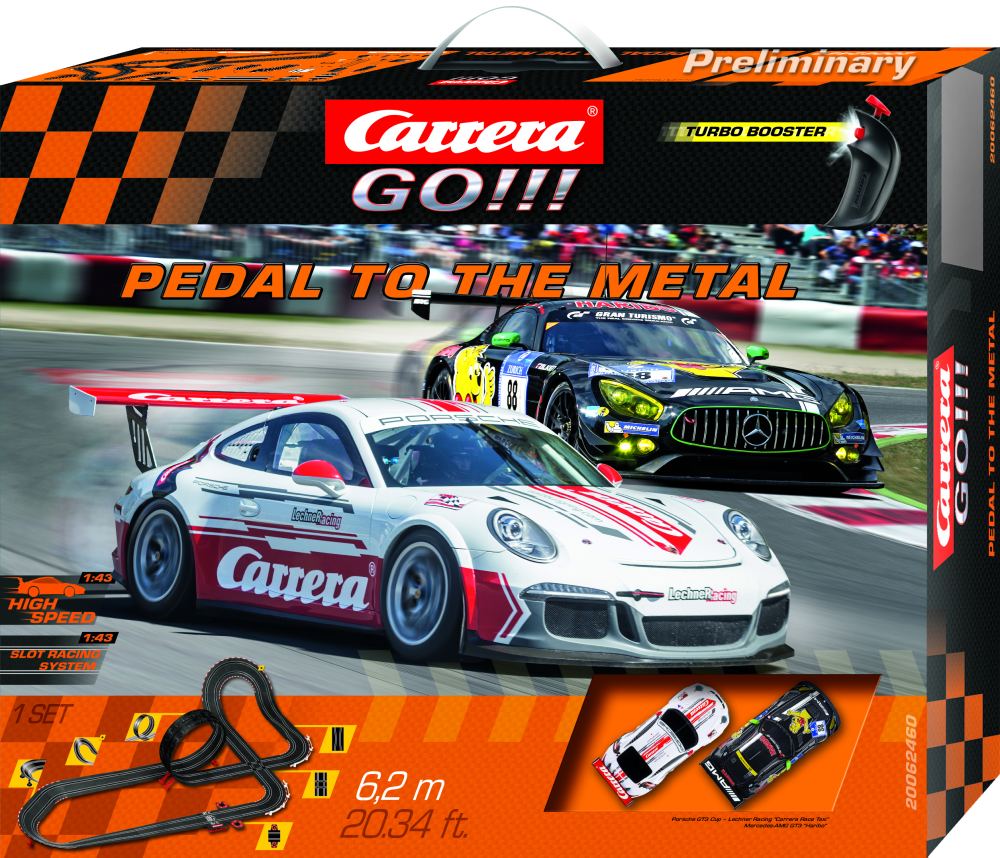 Carrera 62460, Startset GO! Pedal to the Metal / 6.2 m