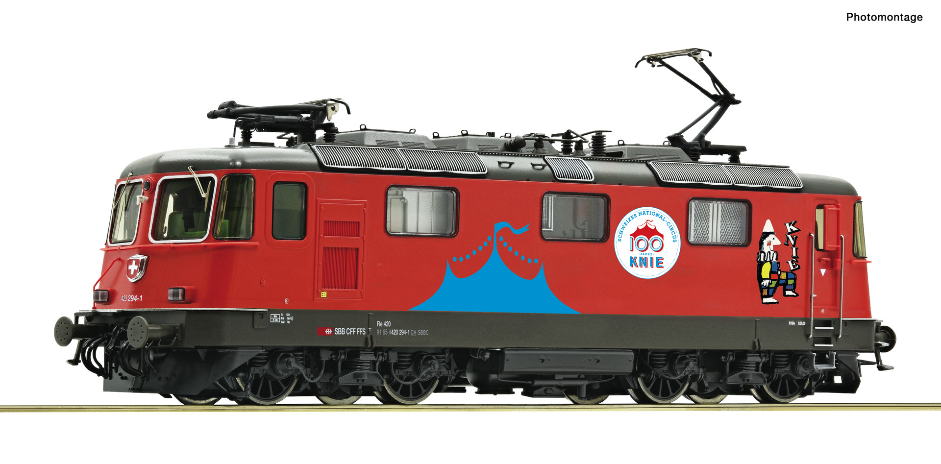 "Roco 71402, SBB Re 420, 294-1, ""Circus Knie"", Ep. VI, DC, digital mit Sound"