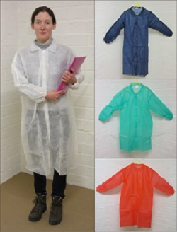disposable visitors coats, disposable visitors lab coats