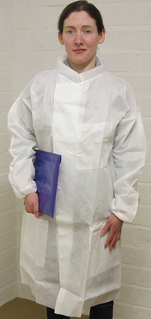 disposable Howie coat, disposable laboratory coats, disposable lab coats, disposable Howie lab coats