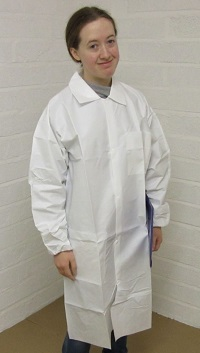 disposable lab coats, disposable laboratory coats, disposable microporous lab coats