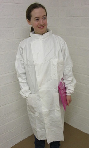 disposable Howie coats, antistatic disposable Howie lab coats, disposable lab coats