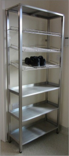 stainless steel shoe and boot stand