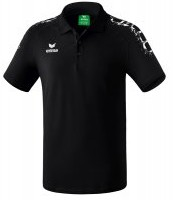 Polo noir Graffic 5-C adultes