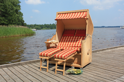 "LUXUS-Strandkorb PREMIUM EXCLUSIV ""Nautic"" XL"