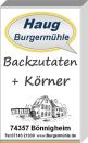 --- Backzutaten+Körner