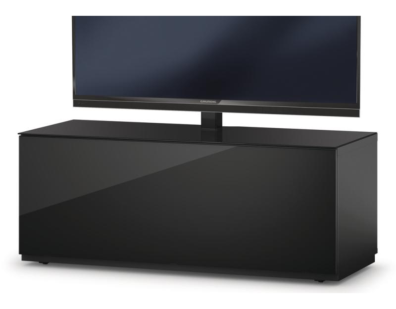 Sideboard Fernsehmöbel sta111f tv möbel in schwarz klappe schwarz sockel design tv möbel fernsehmöbel und
