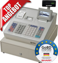 Registrierkasse Sharp XE-A307, GoBD konform