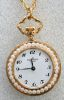 Pendent Watch plated, Gold Paillons, 25mm