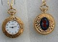 Pendant Watch Gplated, enamelled, 28mm
