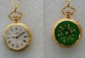 Pendent Watch Gplated enamelled, 25mm