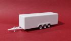 Type B Trailer  24 ft.  3 Axle Chrome Wheels