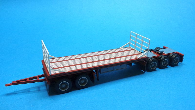 B-Double Flat-Top A Trailer  ohne Dolly