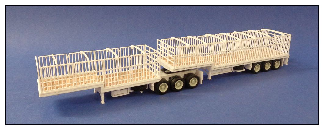 B-Double Drop Deck Trailer  with Gates