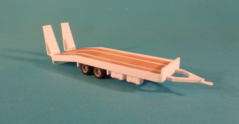 2 Axle Flat Bed Car Trailer Uni