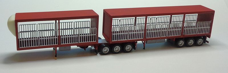 B-Double Flat Box Trailer with Gates