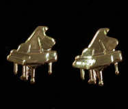 Mini Ohrstecker Piano, goldplated
