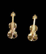 Mini Ohrstecker Violine, goldplated