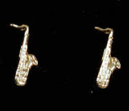 Mini Ohrstecker Saxophon, goldplated