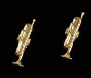 Mini Ohrstecker Trompete, goldplated