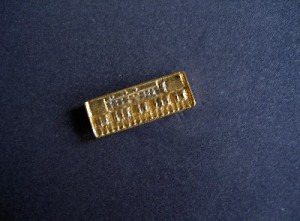 Anstecker Keyboard gold