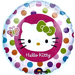Petit ballon hélium rond Hello Kitty