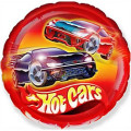 Petit ballon hélium rond rouge HOT CARS