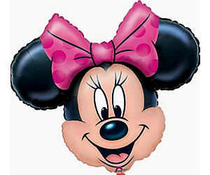 Ballon sur tige Minnie