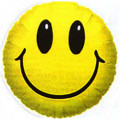 Ballon sur tige Smiley