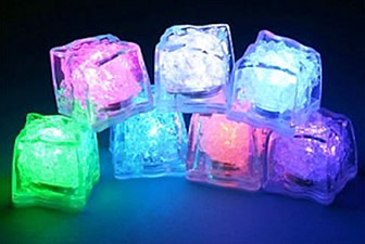 Glaçon-cube flash led 1 couleur  NON DISPONIBLE