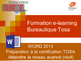 Formation e-learning WORD AVANCE