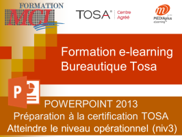 Formation e-learning POWERPOINT OPERATIONNEL