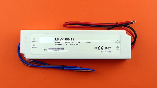 LED Trafo - 12V - 100 Watt - IP67