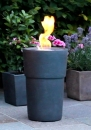 Flame pot Siena piombo