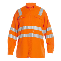 EN 471 7001-430 Comfortable shirt with stretch reflectors for increased comfort. Two breast pockets,