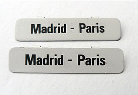 Spur 0  Richtungsschilder Madrid - Paris