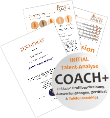 "INITIAL Talent-Analyse ""coach+"" für registrierte Coaches"